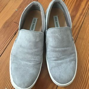 Grey Steve Madden slip on sneakers